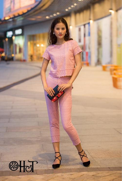 Hương Ly xuất hiện mới lạ trong BST mới của thương hiệu H&T - 13