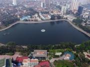 Toàn cảnh hồ Thành Công trước đề xuất lấp hồ xây nhà tái định cư