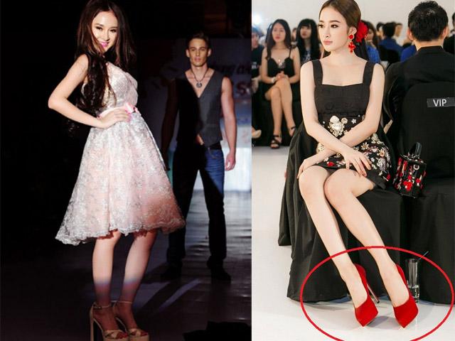 """Phát ngất vì Angela Phương Trinh cao lênh khênh với giày """"khủng"""""""