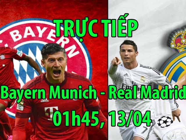 TRỰC TIẾP bóng đá Bayern Munich - Real Madrid: Lewandowski vắng mặt