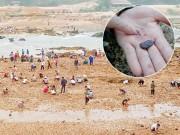 Tin tức trong ngày - Sau tin đồn, dân bỏ đồng ra sông tìm đá quý