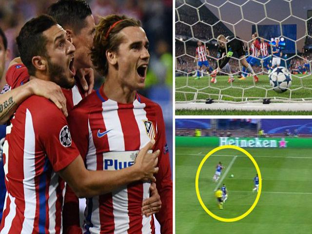 Griezmann 100 triệu euro kiếm penalty tưởng tượng, Leicester nổi đóa