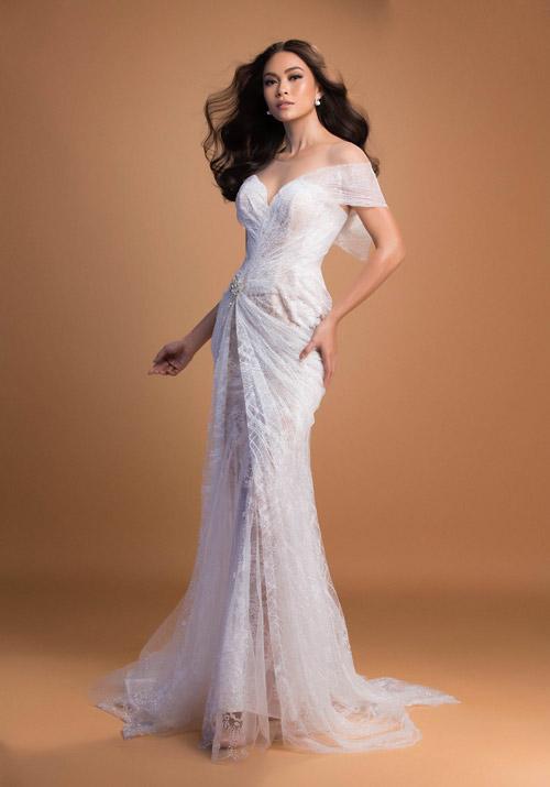 Mâu Thủy mờ ảo khoe dáng sexy với váy mỏng như sương - 9