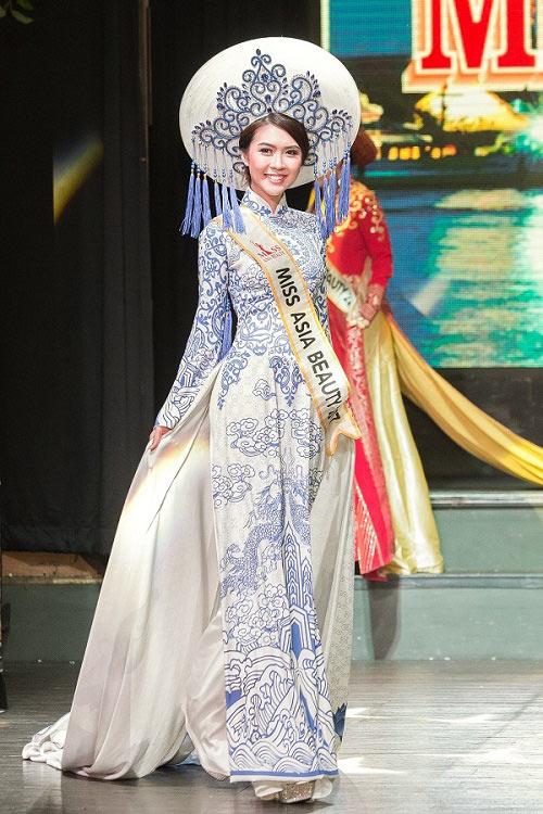 Nhan sắc thực của Hoa khôi Phú Yên vừa đăng quang Miss Asia - 2