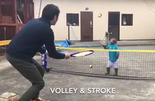 Lên lưới như Federer, chú khỉ khiến fan tennis choáng - 1