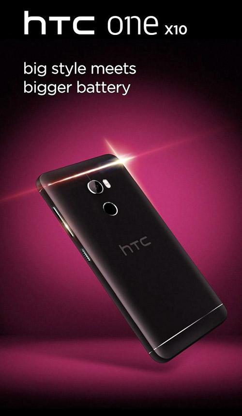 """HTC One X10 lộ ảnh trần trụi, pin """"trâu"""" - 1"""