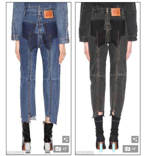 """Dân tình phát """"sốt"""" trước mẫu jeans rách mông giá 43 triệu - 2"""