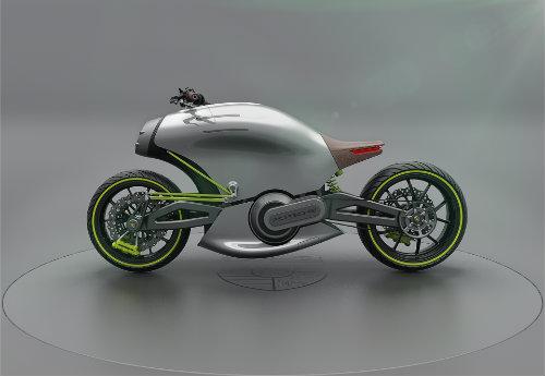 Hình dung trước siêu môtô của Porsche - 1