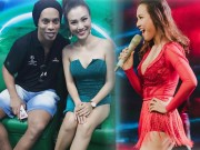 """Thời trang - Ronaldinho """"lơ"""" Thủy Tiên, """"mê mẩn"""" nữ MC Việt mặc siêu ngắn"""