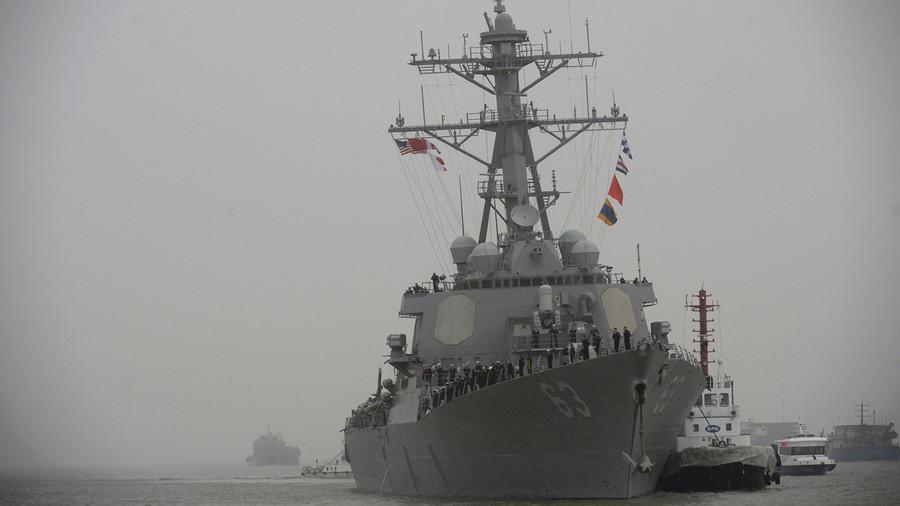 Tàu khu trục tên lửa Mỹ tiến vào Biển Đông - 1