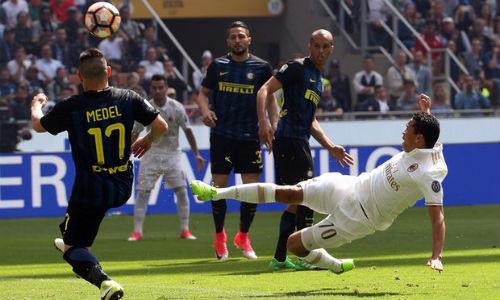 """Inter Milan - AC Milan: """"Vỡ tim"""" phút 90+7 - 1"""