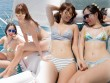 Em gái Hà Anh mặc bikini bé xíu đẹp át chị trên du thuyền triệu USD