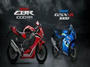 Thế giới xe - Chọn mua Honda CBR1000RR hay Suzuki GSX-R1000?