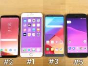 """Dế sắp ra lò - RAM nhỏ, iPhone 7 vẫn """"vượt mặt"""" Galaxy S8 và LG G6 về hiệu suất"""