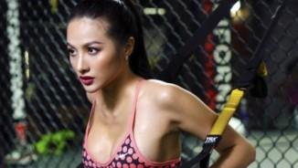 """Bồ cũ Lương Bằng Quang khoe dáng """"bốc lửa"""" trong phòng gym"""