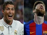 Bóng đá - Trước thềm Siêu kinh điển, Messi và Ronaldo… hôn nhau
