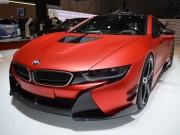 BMW i8 lạ mắt trong bộ cánh đỏ đầy chất chơi