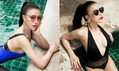 Lần đầu Trà Ngọc Hằng mặc bikini sexy không đơn lẻ như xưa - 11