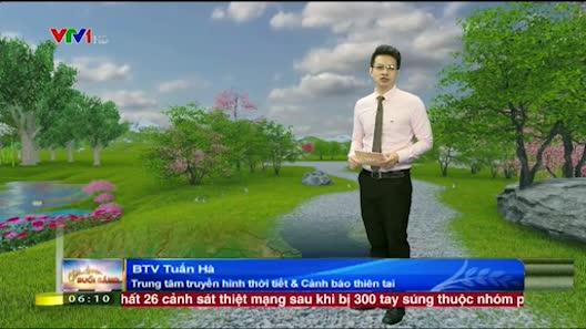 Dự báo thời tiết VTV 25/4: Bắc Bộ tăng nhiệt, Nam Bộ thời tiết xấu