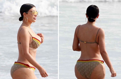 """Dân tình choáng vì bikini táo bạo của """"Kim siêu vòng 3"""" - 6"""
