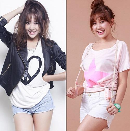Lấy chồng kém tuổi, Khởi My, Hari Won mặc như nữ sinh 18 - 11