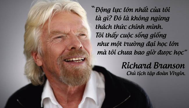 Tỷ phú Richard Branson, chủ tịch tập đoàn Virgin.