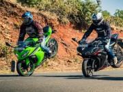 So kè 2017 Kawasaki Ninja 300 và Yamaha YZF-R3