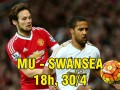 MU – Swansea: Muôn trùng khó khăn ngăn đường vào top 4