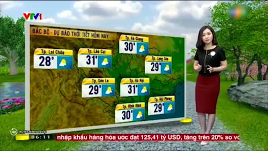 Dự báo thời tiết VTV 29/4: Mưa giảm ở cả ba miền