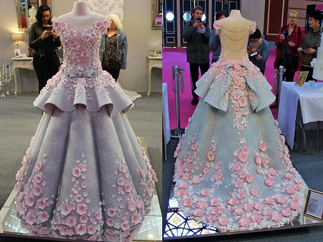 Chiếc váy cưới đẹp lung linh này thực chất là một chiếc bánh gato có kích thước bằng với người thật.