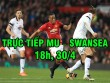 TRỰC TIẾP MU - Swansea: Luke Shaw rời sân