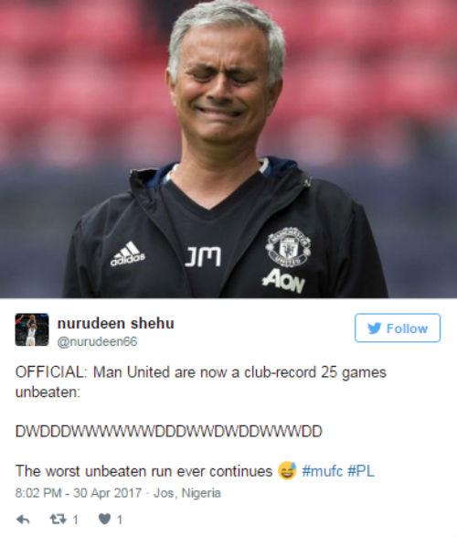 """MU bất bại 25 trận: Mourinho bị """"chế giễu"""", không có viện binh - 2"""