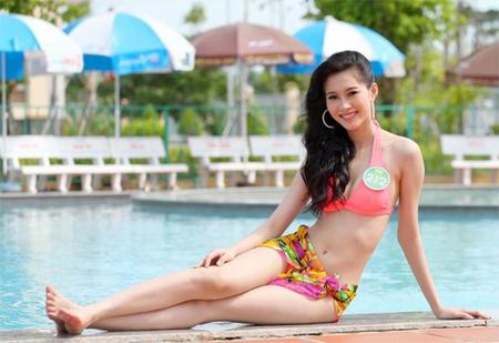 Hoa hậu Thu Thảo tung ảnh áo tắm hiếm hoi kỳ nghỉ lễ - 4