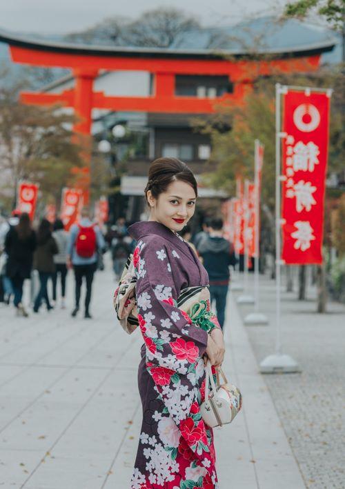 Quỳnh Anh, Phương Mỹ Chi diện kimono sexy hơn gái Nhật - 4
