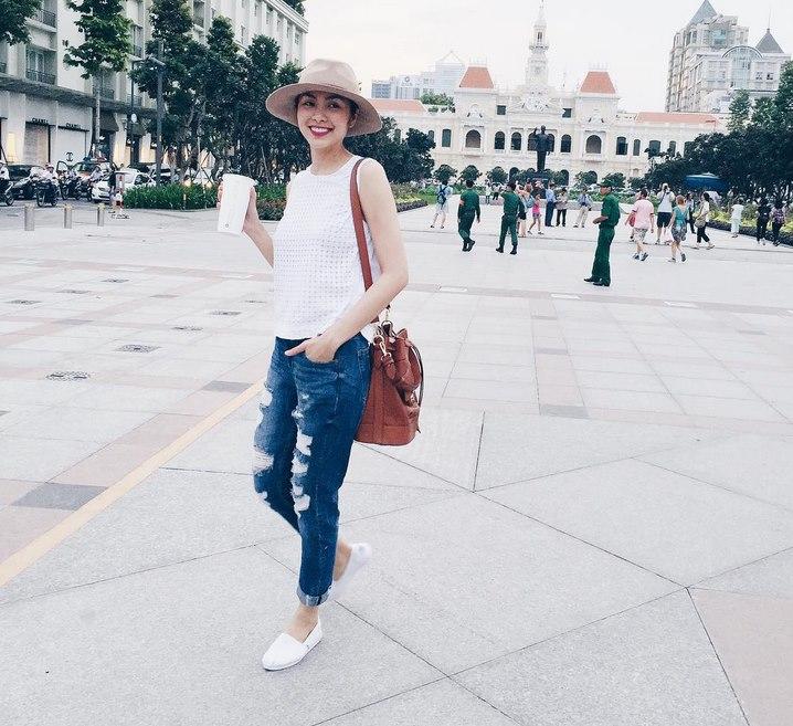 """Loạt quần áo khiến Hà Tăng lộ thân hình """"cò hương"""" - 10"""