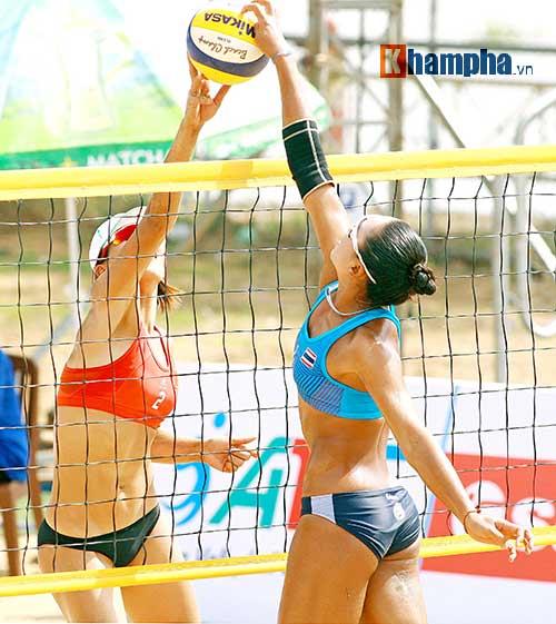"""""""Bóng hồng"""" châu Á khoe dáng chuẩn tại giải bóng chuyền bãi biển - 1"""