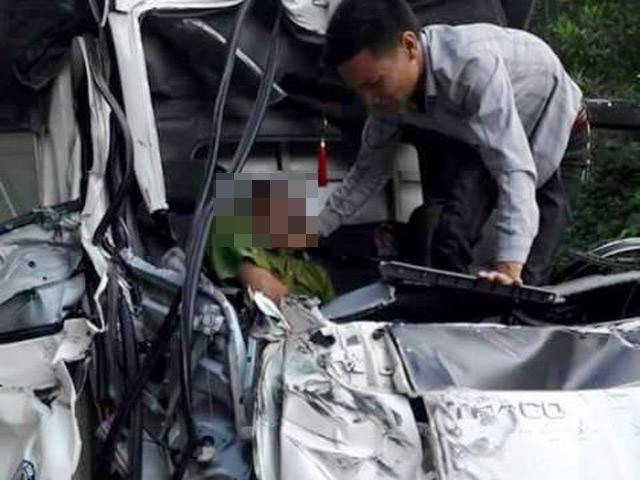Một chiến sĩ công an tử vong do tai nạn giao thông - 1