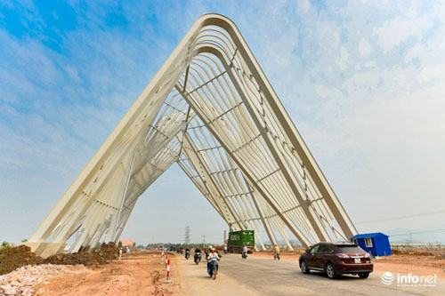 Cận cảnh cổng chào gần 200 tỷ của tỉnh Quảng Ninh - 1