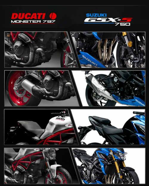 "Suzuki GSX-S750 ""ăn thịt"" đối thủ Ducati Monster 797? - 14"