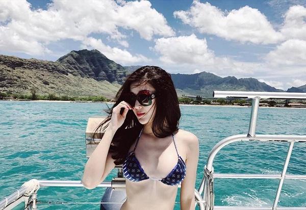"""Hiếm hoi lắm mới thấy Huyền My diện bikini """"bốc lửa"""" thế - 5"""