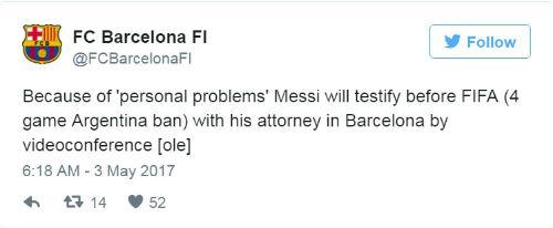 """Messi """"kênh kiệu"""", điều trần với FIFA qua gọi video - 2"""