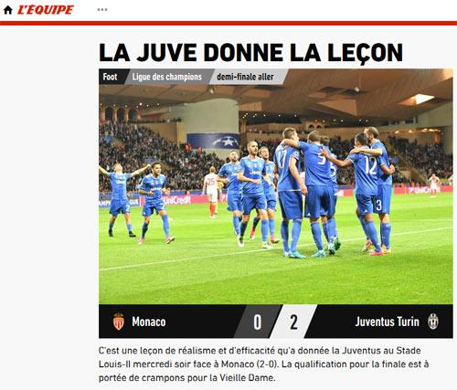 """Báo chí thế giới: Juve """"dạy dỗ"""" Monaco, fan tin sẽ hạ gục Real - 4"""