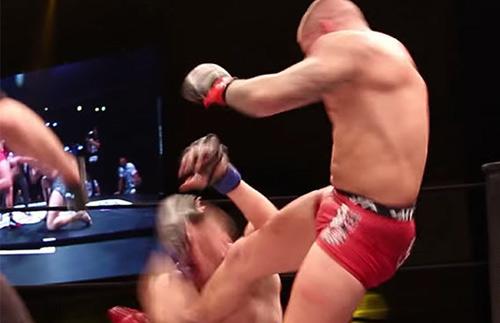 """MMA: """"Kẻ tâm thần"""" chơi bẩn, ẩu đả loạn võ đài - 1"""