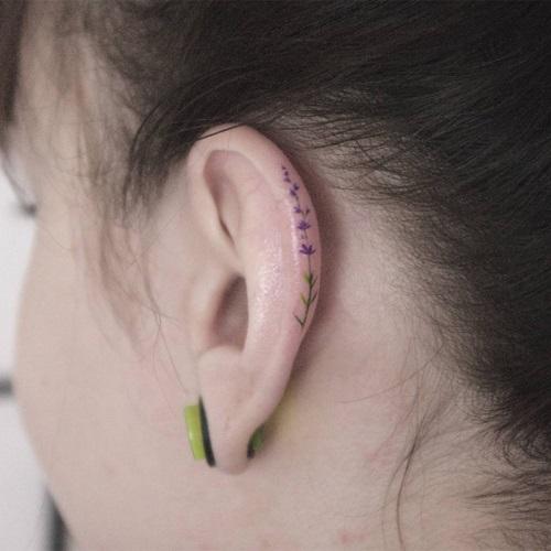 """Xỏ khuyên xưa rồi, xăm vành tai mới là mốt """"ăn chơi"""" cực chất - 5"""