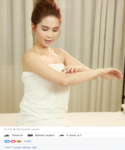 Ngọc Trinh livestream tiết lộ bí quyết trắng da, ngừa lão hóa tuổi 30 - 1