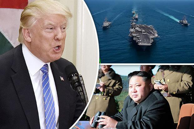 Video: Tàu sân bay Mỹ phô trương sức mạnh dọa Triều Tiên - 1