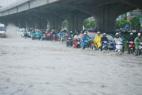 'Bản đồ' ngập ở Hà Nội khi mưa to - 1