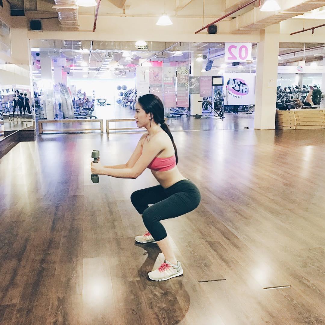 Bảo Thy nhễ nhại mồ hôi khi tập gym vẫn quá gợi cảm! - 3