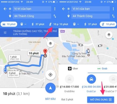 Cách đặt xe Uber hoặc Grab bằng Google Maps - 1
