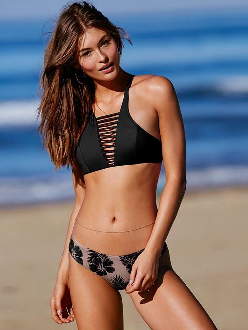 Kiều nữ chết mê style bikini lưới đan ngực tung hoành biển cả - 7
